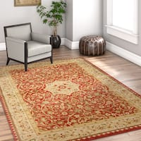 Well Woven Vienna Traditional Persian Oriental Antique Red Area Rug - 6'7 x 9'3