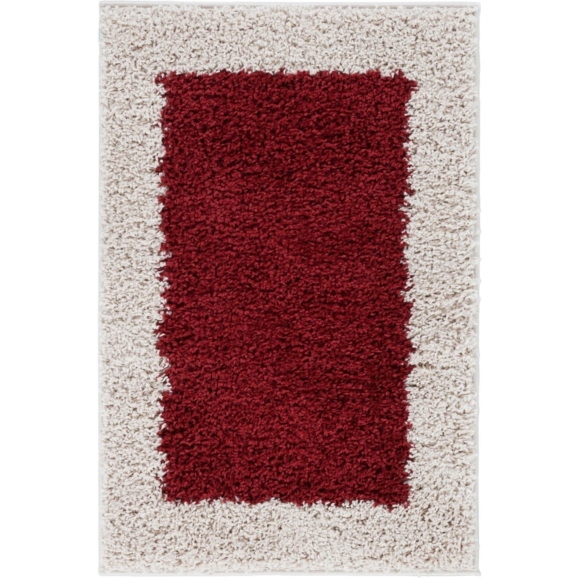 Well Woven Modern Solid Color Border Mat Accent Rug - 2 x 3 (Grey - Grey)