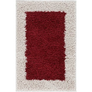 Well Woven Modern Solid Color Border Mat Accent Rug - 2' x 3'