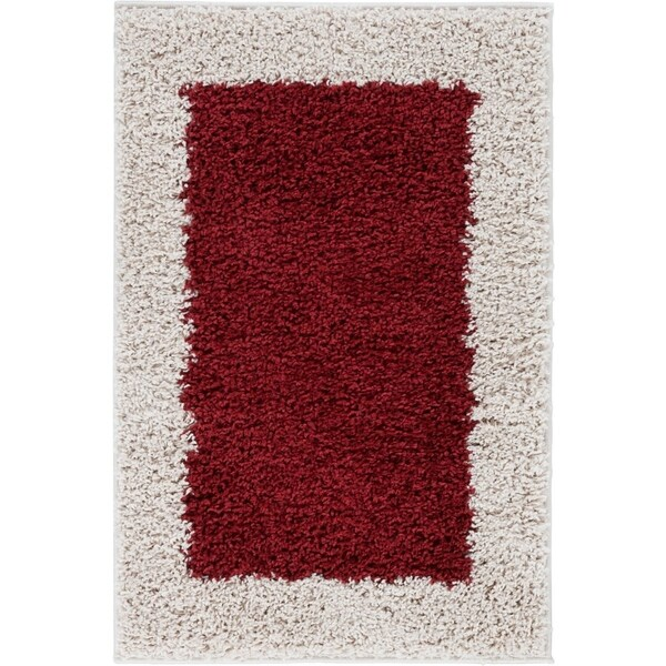 Shop Well Woven Modern Solid Color Border Mat Accent Rug 2 X 3