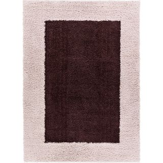 Well Woven Modern Solid Color Border Mat Accent Rug - 2 x 3 (Brown - Brown)