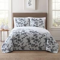 Style 212 Lisborn Printed Floral 3-Piece Quilt Sets