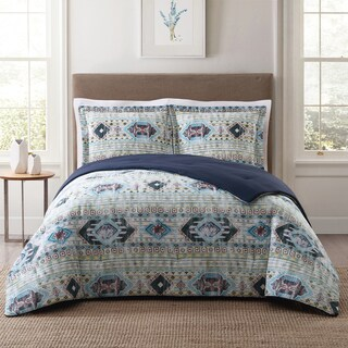 Style 212 Simone Tribal Stripe 3-Piece Cotton Face Comforter Set