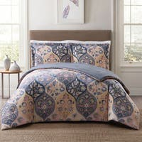 Style 212 Justine Ogee Cotton 3-Piece Face Comforter Set