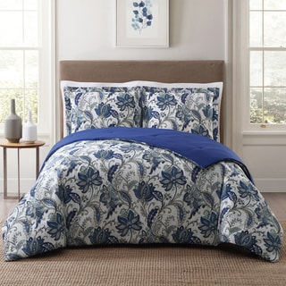 Style 212 Bettina Floral 3-Piece Cotton Face Comforter Set