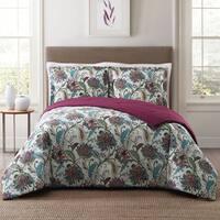 Style 212 Kass Floral 3-Piece Cotton Face Comforter Set
