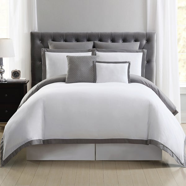 Truly Soft Everyday Hotel Border 7-piece Duvet Cover Set. Opens flyout.