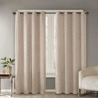 Madison Park Evadne Embossed Poly Velvet Grommet Curtain Panel