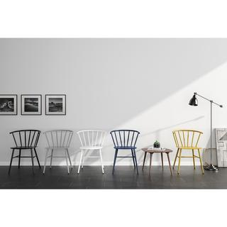Novogratz Campbell Gloss-finished Metal Cottage Chair