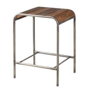 Ink and Ivy Renu Light Brown Multi/Gunmetal 24-inch Counter Stool