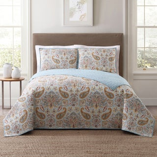 Style 212 Manchester Tile 3-Piece Printed Quilt Set