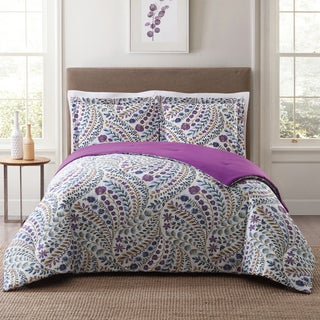 Style 212 Nealy Floral 3-Piece Cotton Face Comforter Set