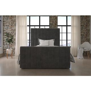 DHP Dante Grey Upholstered Bed