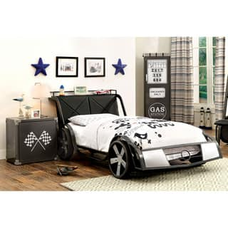 Furniture of America Born Racer 2-piece Gun Metal Youth Bed and Nightstand Set https://ak1.ostkcdn.com/images/products/17760842/P23960124.jpg?impolicy=medium