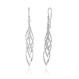 Mondevio Sterling Silver Triple Spiral Lightweight Dangle Earrings