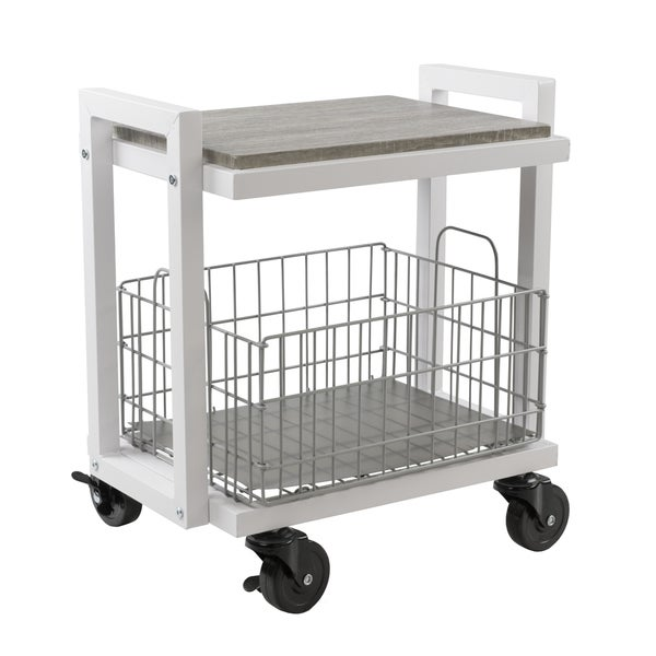 Urb E 2 Tier Cart System With 1 Interchangeable Shelve Foldable Stackable