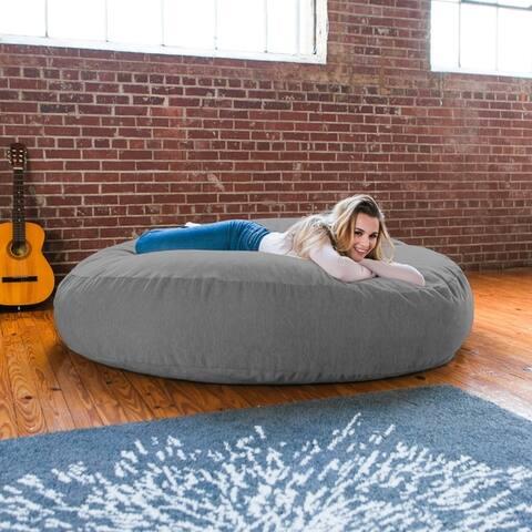 Jaxx 6' Cocoon Chenille Bean Bag Sofa