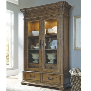 brown kitchen cabinet signature design by larchmont brown dining 1831