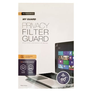 My Guard Widescreen Privacy Filter for Monitor, Laptop, or Tablet - Relieves Eye Strain, Blocks Blue Light, Scratch Protection