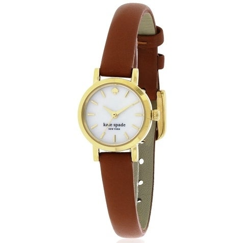 62689601afb Shop Kate Spade New York Tiny Metro Leather Ladies Watch - Free Shipping  Today - Overstock.com - 17761103