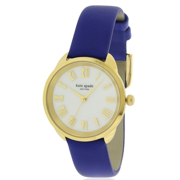 652999af3e1e Shop Kate Spade Crosstown Leather Ladies Watch KSW1246 - Free Shipping Today  - Overstock - 17761116