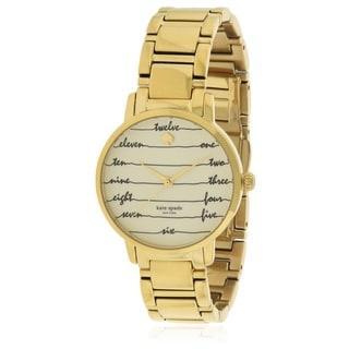 Kate Spade New York Gramercy Gold-Tone Ladies Watch KSW1060