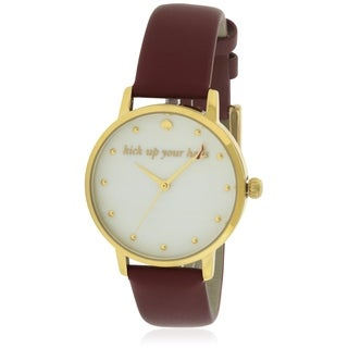 Kate Spade Metro Leather Ladies Watch KSW1209