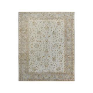 Arshs Fine Rugs Kafkaz Peshawar Dane Ivory/Grey Wool/Natural Fiber Hand-knotted Rug (8' 10 x 11' 7)