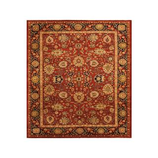 Arshs Fine Rugs Darcel Red/Dark Blue Wool Hand-knotted Kafkaz Peshawar Rug (9'3 x 11'11)