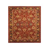 Arshs Fine Rugs Darcel Red/Dark Blue Wool Hand-knotted Kafkaz Peshawar Rug - 9' x 12'