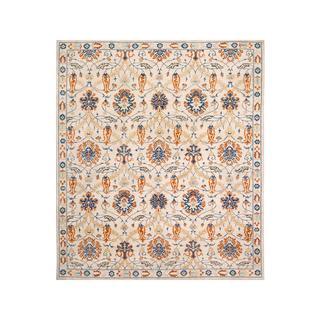 Arshs Fine Rugs Ivory/Blue Wool Kafkaz Peshawar Guillerm Hand-knotted Rug (9'1 x 10'8)