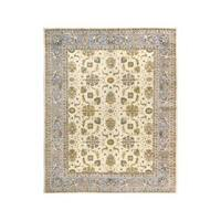 Arshs Fine Rugs Kafkaz Peshawar Jeffry Ivory/Blue Hand-knotted Wool Rug - 9' x 12'