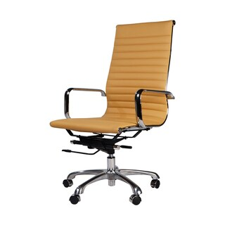 Aluminum Group Executive Chair, Brown Leather