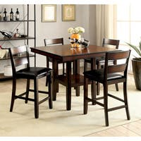 Oliver & James Tosa 5-piece Brown Cherry Dining Set