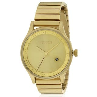 Nixon Gold-Tone Stainless Steeel Mens Watch A1160502|https://ak1.ostkcdn.com/images/products/17761430/P23960631.jpg?impolicy=medium