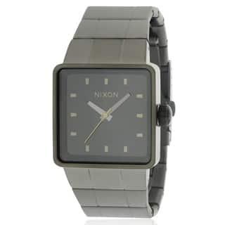 Nixon The Quatro Gunmetal Ion-plated Mens Watch A013680|https://ak1.ostkcdn.com/images/products/17761437/P23960682.jpg?impolicy=medium