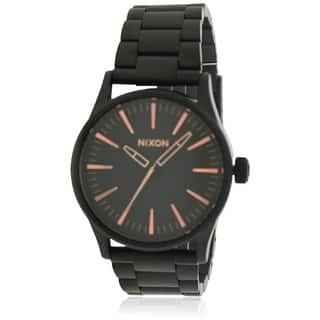 Nixon Black Stainless Steel Mens Watch A450957|https://ak1.ostkcdn.com/images/products/17761441/P23960633.jpg?impolicy=medium