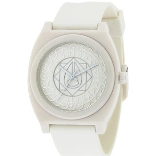 Nixon The Time Teller White Rubber Unisex Watch A1191620-00