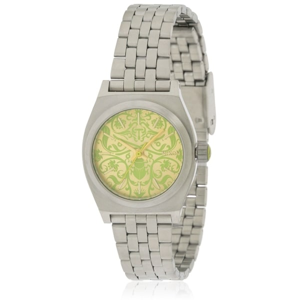 Nixon Small Time Teller Stainless Steel Ladies Watch. Opens flyout.
