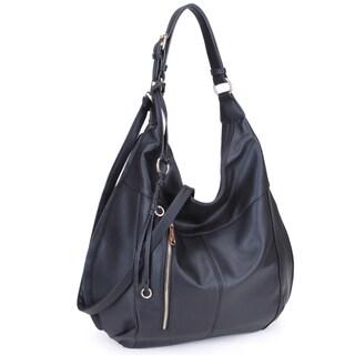 """Dasein Lightweight Soft Water Wash Hobo Handbag - 19""""W x 17""""H x 6""""D (Option: Black)"""
