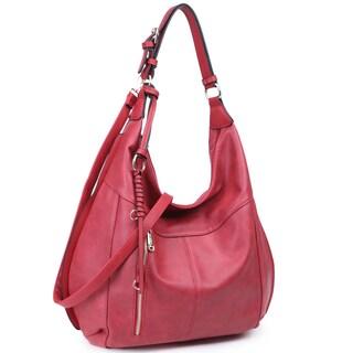 """Dasein Lightweight Soft Water Wash Hobo Handbag - 19""""W x 17""""H x 6""""D (Option: Burgundy)"""