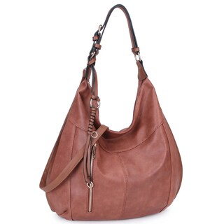 "Dasein Lightweight Soft Water Wash Hobo Handbag - 19""W x 17""H x 6""D"