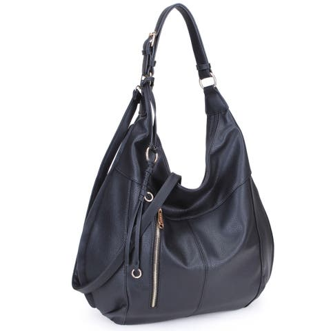 Dasein Soft Water Wash Hobo Handbag