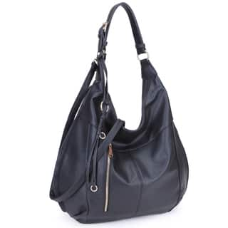 Dasein Soft Water Wash Hobo Handbag