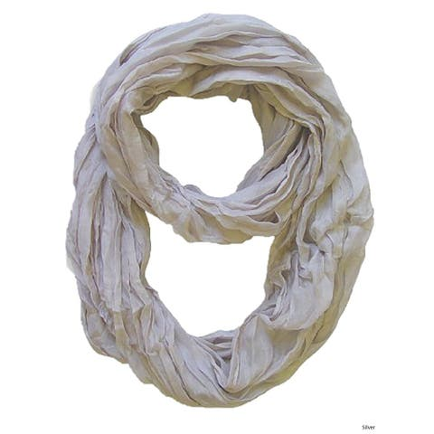 Peach Couture Fashion Ombre Lightweight Crinkled Infinity Loop Scarf