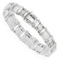 Luxurman Mens Real Diamond Bracelet 10K Gold 4ct