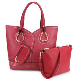 Dasein Stylish Casual Tote Bag with Matching Pouch/Accessory Bag Inside