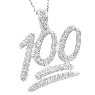 Luxurman 10k Gold 1 3/4ct TDW Large Diamond Pendant