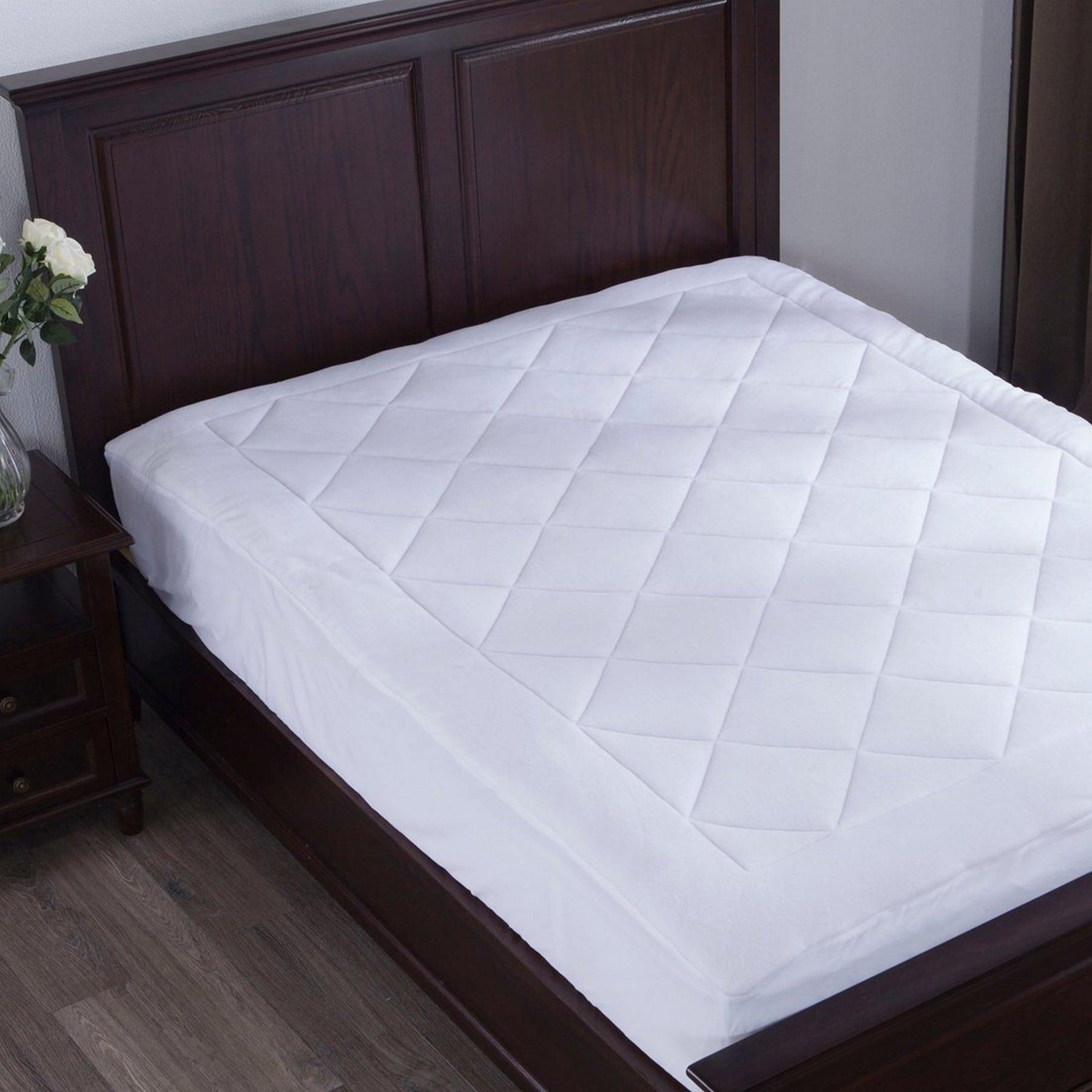 St. James Home Coral Fleece Mattress Pad - White (King) (...