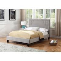 Best Quality Furniture Upholstered Velvet Platform Bed